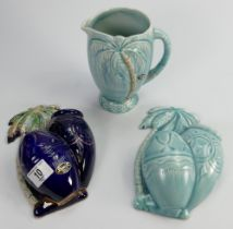 A collection of Beswick Palm Ware: comprising two wall pockets and jug. (3)