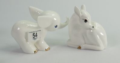 Beswick little likables Fawn and baby elephant (2):