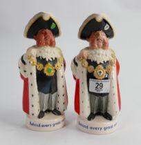 Beswick pub jugs of the Lord Mayor: adverting Worthington E. (2)