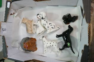 A collection of Beswick small dog models (7):