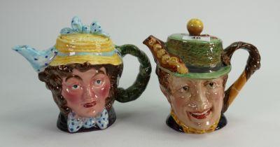 Beswick character Teapots: Dolly Vardon 1203 and Sam Weller 1369. (2)
