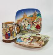 Beswick Christmas plates and mug. (3)