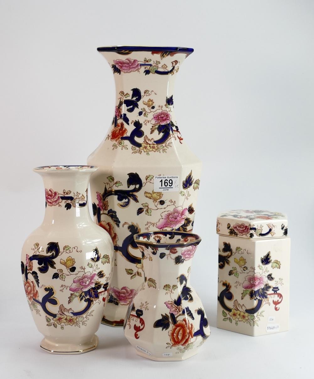 Very Large Masons Mandalay vase and 3 others: Vases measure 42.5 cm, 26cm & 16cm, large vase has 2 - Image 2 of 2