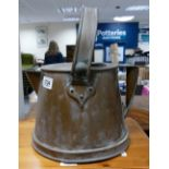 Large Victorian Copper Hot Water Ketlle Jug: height to top of handle 36cm