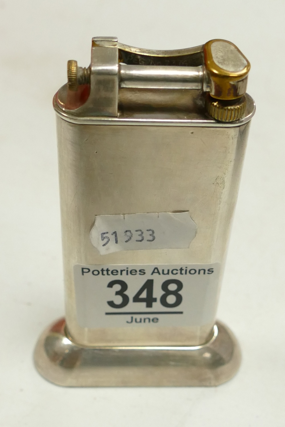 Dunhill Silver Plated Standard Table Cigarette Lighter: