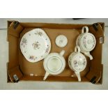 A mixed collection of items to include: Minton Marlow Teapot, Minton Marlow Teapot(hairline to