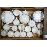 Royal Doulton Expressions Windermere pattern tea set: to include 13 cups, 10 saucers, 10 side