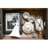 A mixed collection of items to include: Coalport Ladies of Fashion figure Jacqueline,