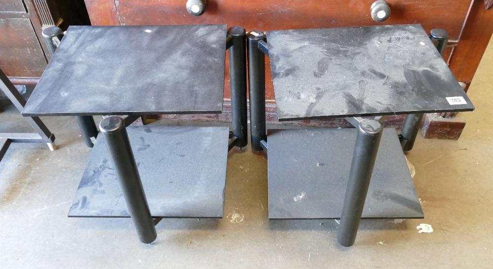 Two Tier Mono Block Amplifier Stands: