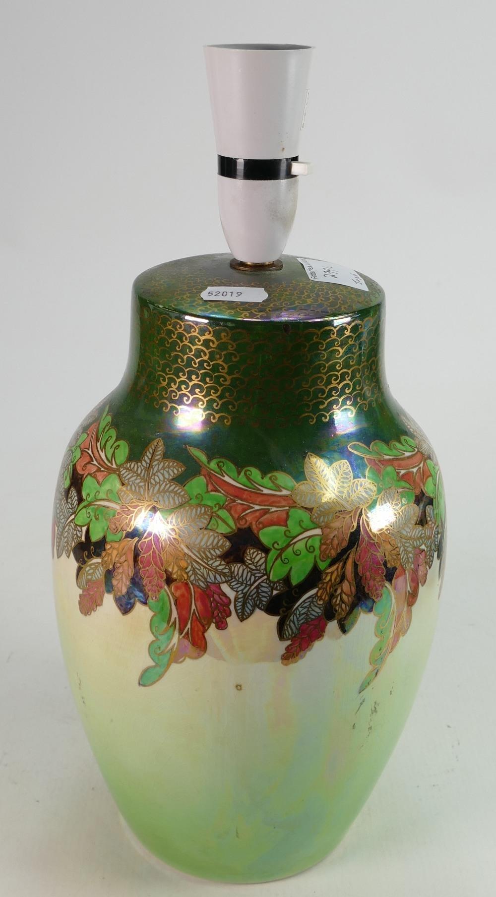 Large Grimwades Royal Winton lustre lamp base: Measures 27 mm excluding fittings.