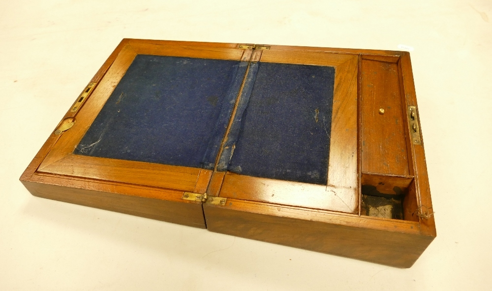 Edwardian Writing Slope / Box: with fitted leather interior, length 26cm, height 10.5cm, depth 20cm - Image 2 of 2