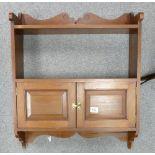 Mahogany Wall Shelves / Cupboard: