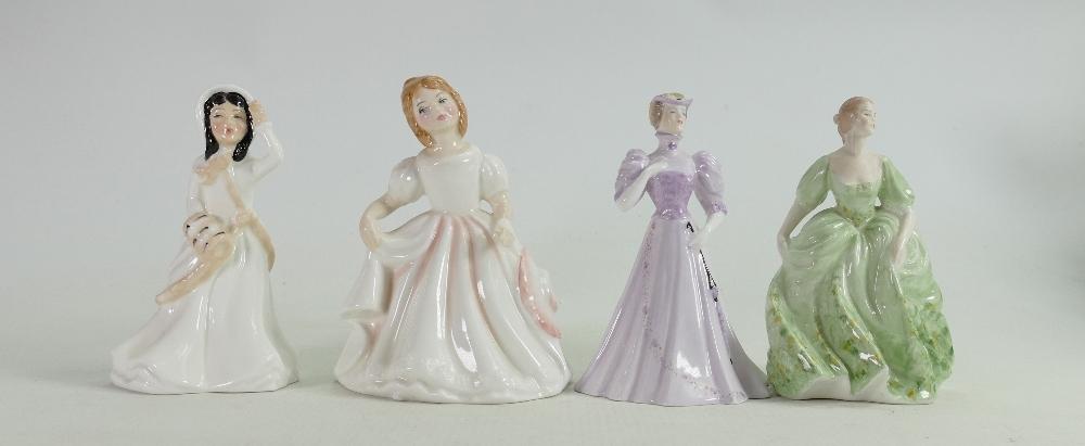 Royal Doulton & Coalport Small Lady Figures: Amanda, Helen, Jenifer & Christine(4)