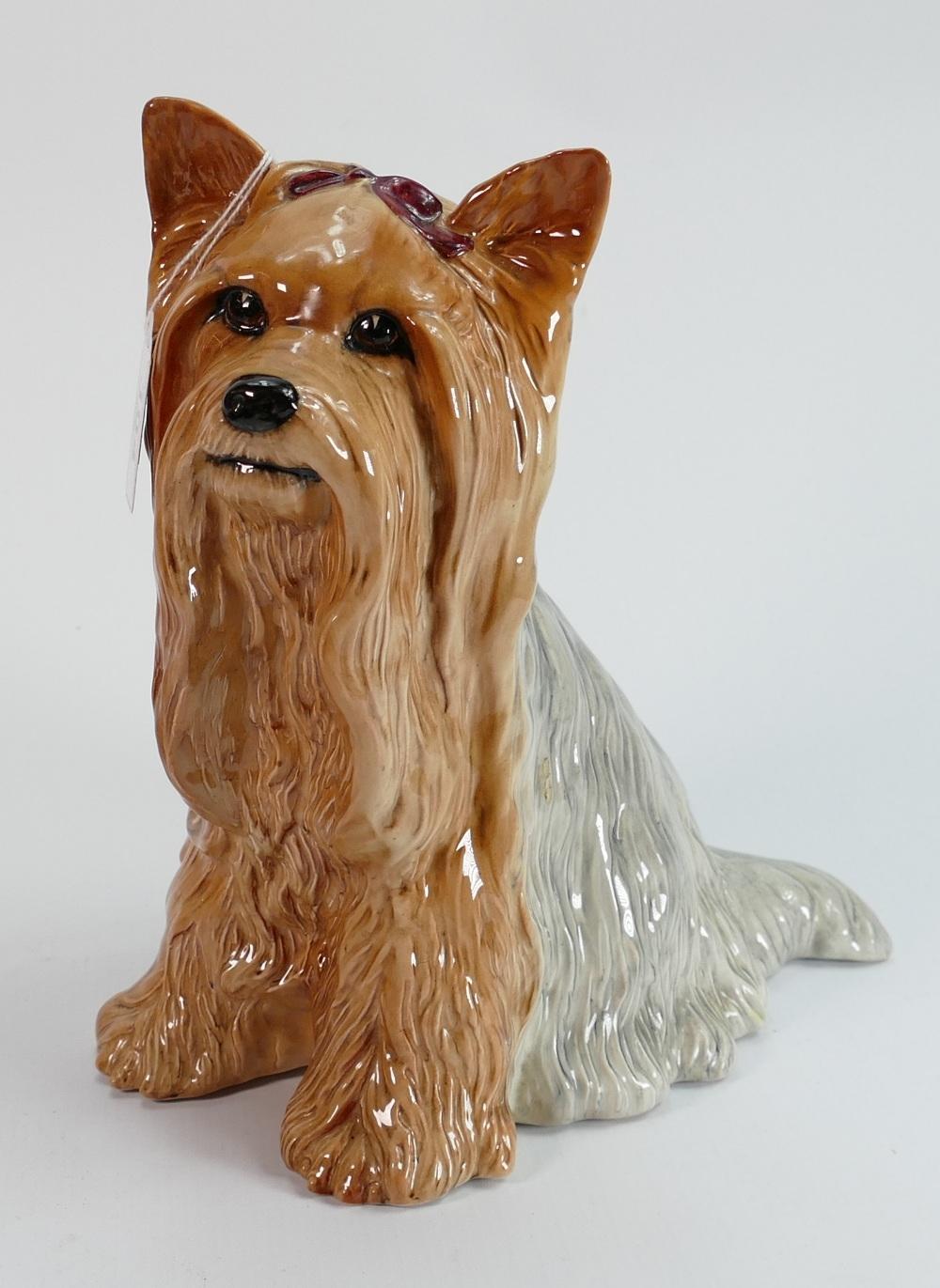 Beswick large fireside Yorkshire terrier dog: Ref 2377.