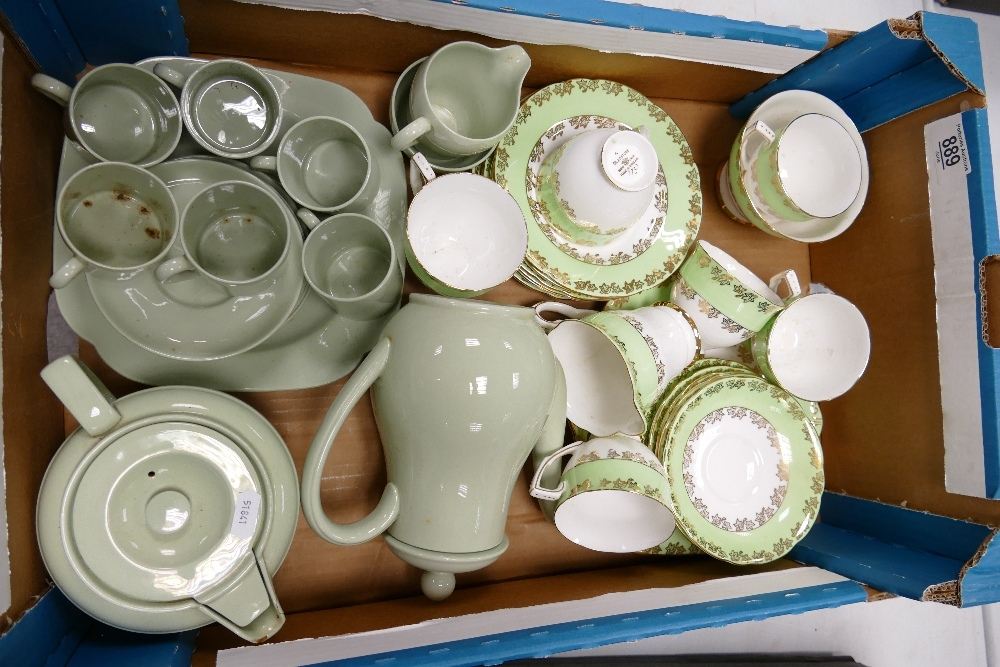 A mixed collection of items to include: Gladstone Chintz patterned tea set & Spode Ironstone