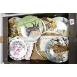 A large collection of Coalport & Similar Bradex limited edition plates: with floral, equine & bird