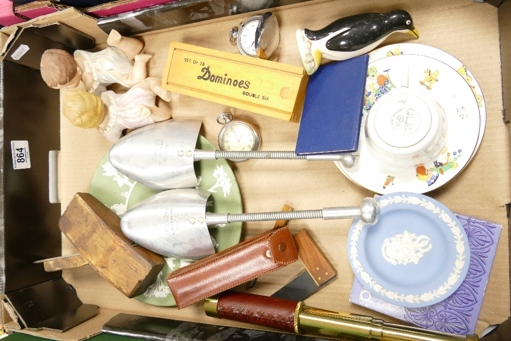 A mixed collection of items to include: Pocket Watches, Wedgwood jasperware, Colclough Nusery - Image 2 of 2