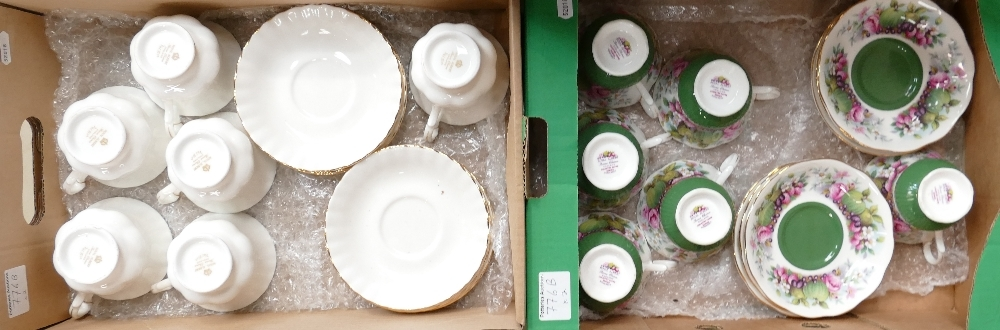 Two x Royal Albert porcelain tea sets Country Fayre Somerset and Val Dor: 24 pieces in total.
