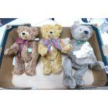 Three German Hermann Limited Edition Teddy Bears: height of tallest 42cm(3)