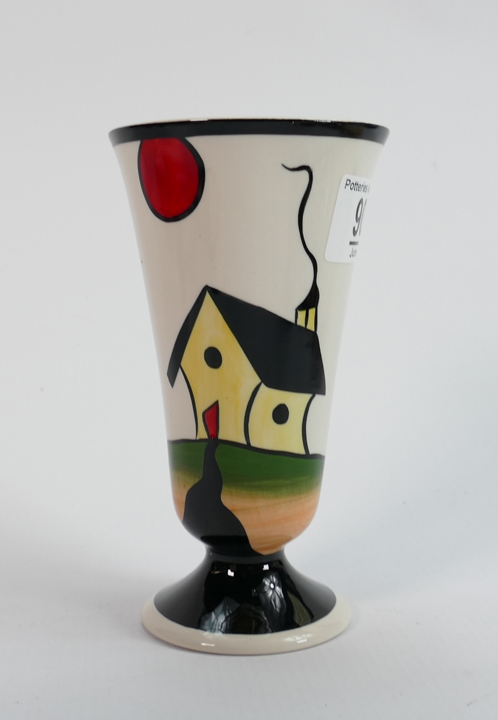 Lorna Bailey vase 1/1 limited edition of one: 14.5 cm.