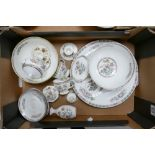 A collection of Wedgwood Kutani Crane patterned items to include: large platter, fruit bowls,