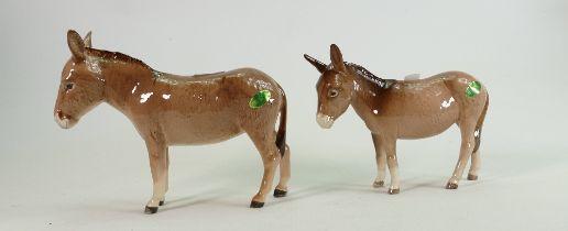 Beswick Donkey 2267A: and 2210 foal (2)