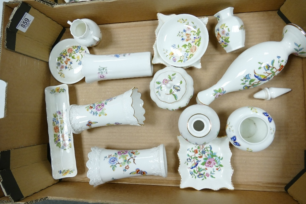 A collection of Aynsley Wild Tudor, Cottage Garden & Butteries decorated items: