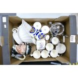 A mixed collection of items to include: Wade Centerpiece bowl, Royal Doulton seconds large character