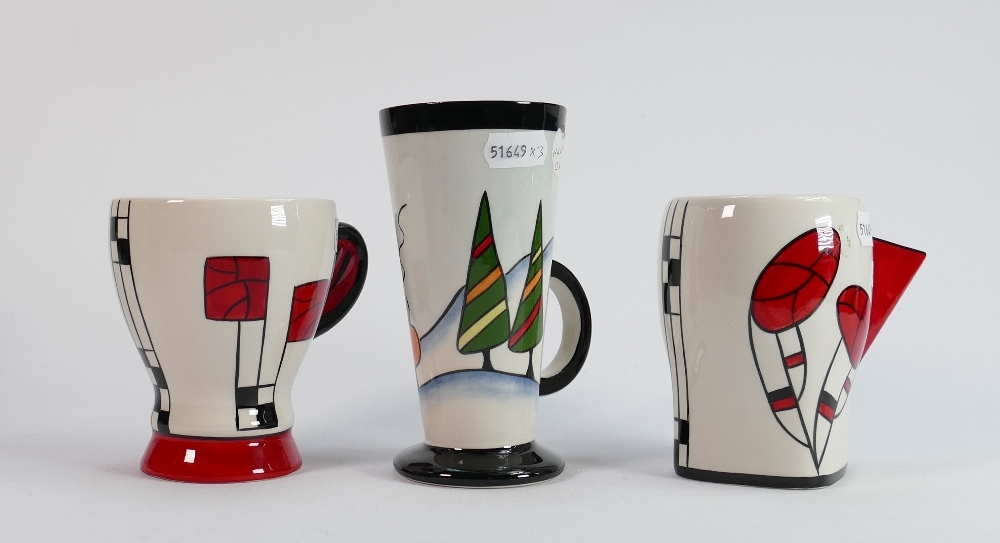 Three Lorna Bailey mugs including limited edition: Tallest 1/35 ltd ed. plus 2 others (3)