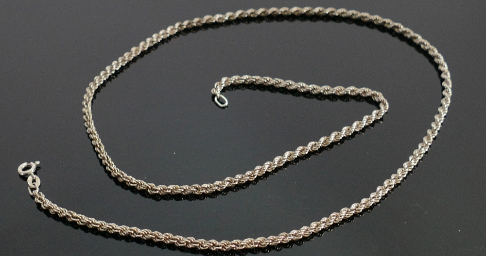 Silver necklace, 10g: