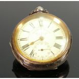 Graves of Sheffield gents 935 silver cased pocket watch The Westville lever: Gross weight 130.1g, 55