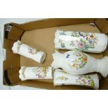 A collection of Aynsley Somerset & Cottage Garden Vases: together with Pembroke Patterned seconds