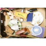 A mixed collection of items to include: Pocket Watches, Wedgwood jasperware, Colclough Nusery