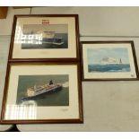 A collection of SDealink & P&O Ferries Framed Prints including: limited Edition M V Fantasia, M V