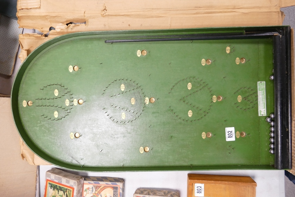 Boxed Corinthian 21s Bagatelle Vintage children's game: