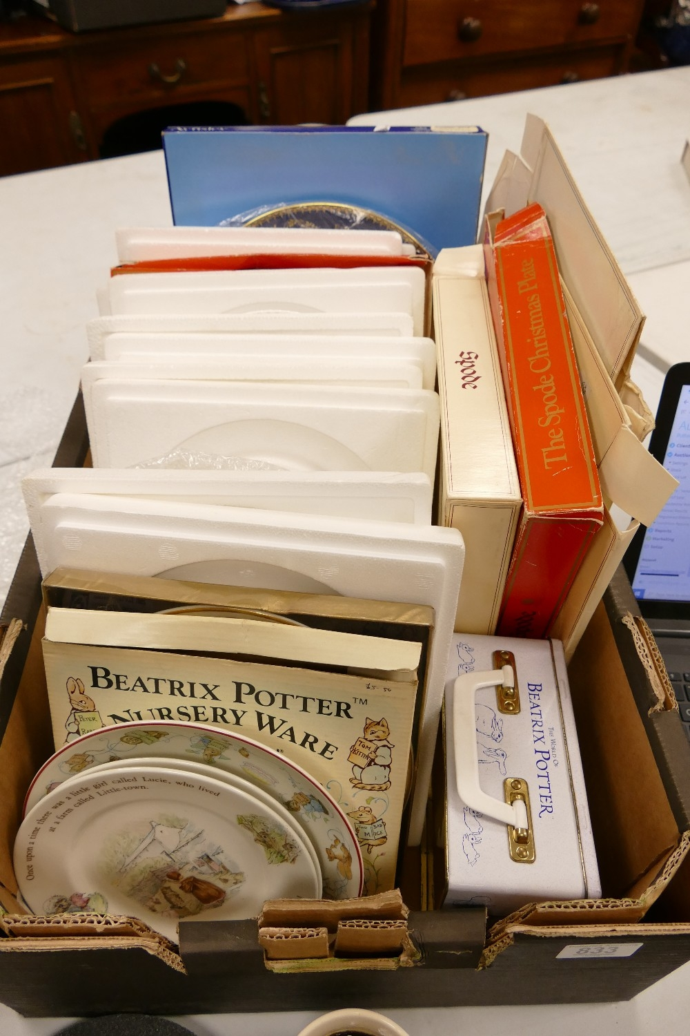 A collection of Aynsley, Wedgwood & Spode Decorative plates: Beatrix potter items noted, many boxed