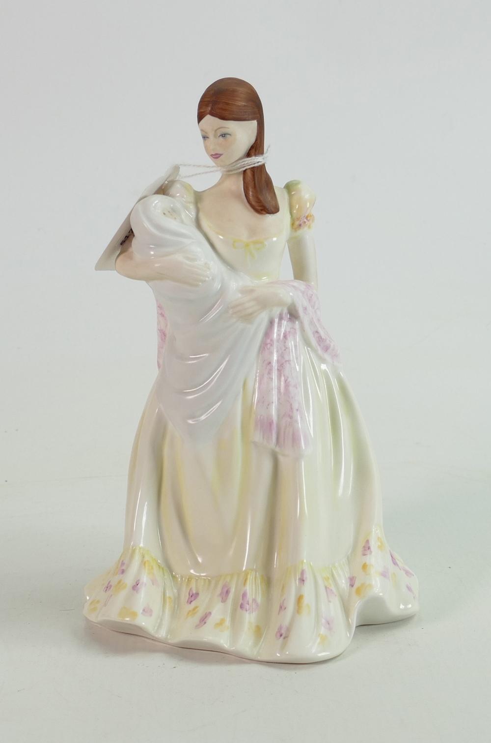 Coalport large size figure Ladies of Fashion Tenderness:
