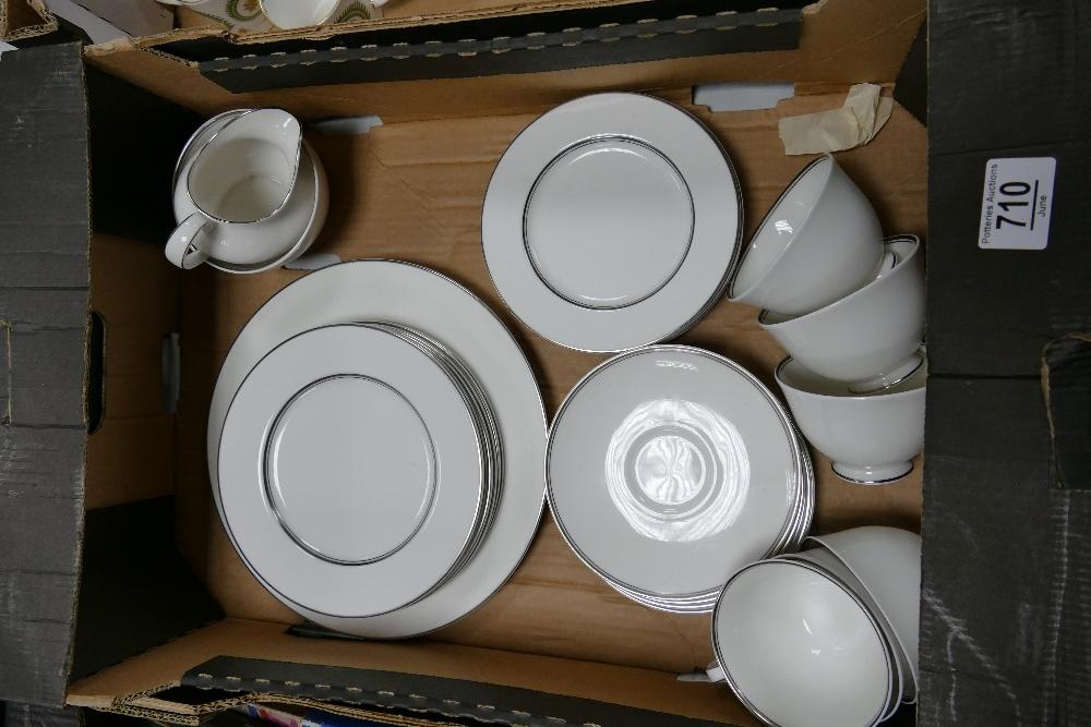 Royal Doulton Argenta Patterned Tea Set:27 piece
