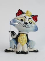 Lorna Bailey cat unique edition of one only: Standing 14.5 cm tall. Limited edition 1/1.