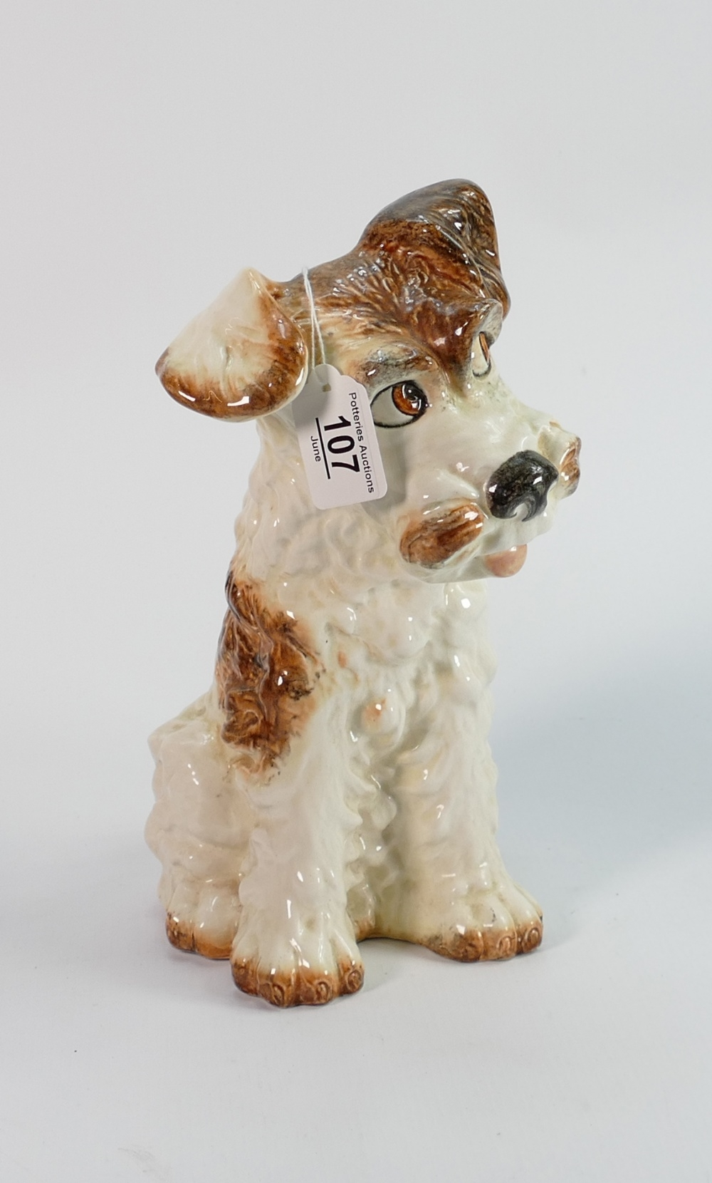 Large Sylvac painted dog ref: 29 cm high ref 1580 or 1380.