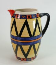 Lorna Bailey Grecian Decorated large Jug: internal nip noted to rim, height 24cm