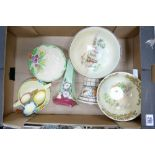 A mixed collection of items to include: Royal Doulton Series Ware, Crown Ducal tube lined wall
