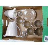Mid Century Twwo Tone Poole Pottery Part Coffee Set: