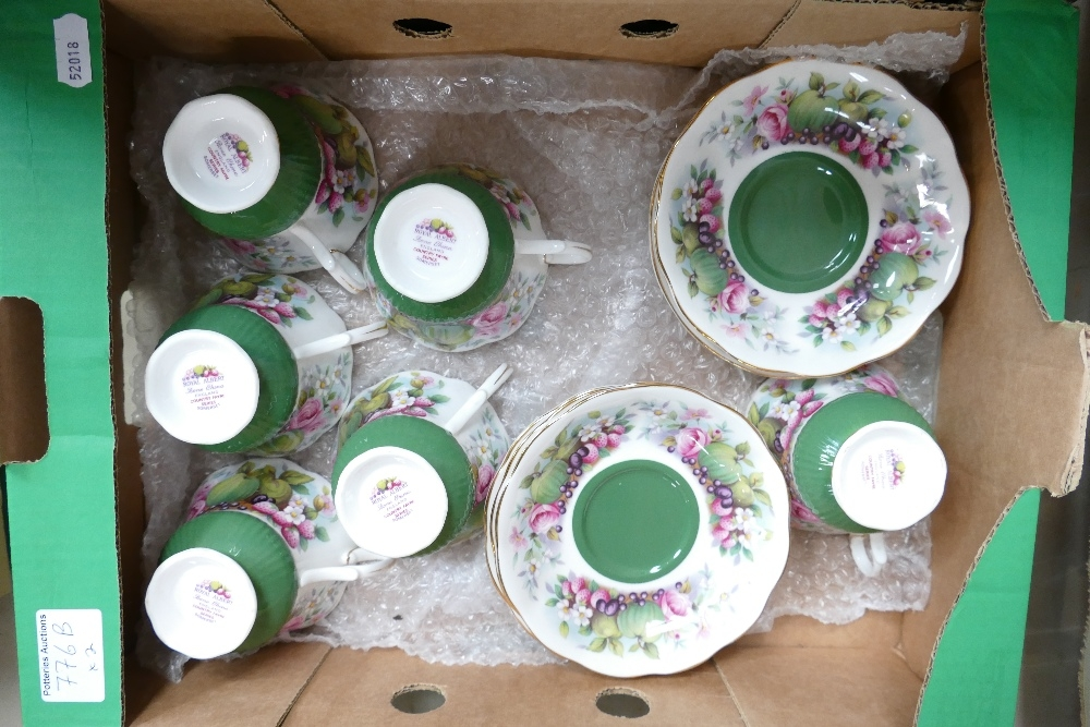 Two x Royal Albert porcelain tea sets Country Fayre Somerset and Val Dor: 24 pieces in total. - Image 2 of 3
