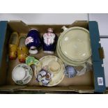 A mixed collection of items to include: Bunnykins part Breakfast set, Floral decorated jars &
