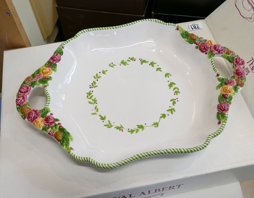 Royal Albert Old Country Rose Seasons of Colour Boxed Large Handled Tray: length 44cm - Image 2 of 2
