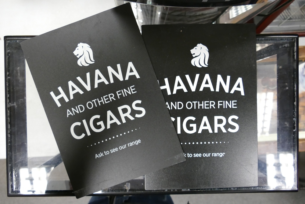 Havana Cigar Counter Top Display Cabinet: with addition signs & humidifiers, height 56cm, width 55cm - Image 2 of 3