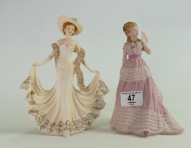 Wedgwood Enchanted Evening Series Lady Figure: together with similar Leonardo collection figure(2)