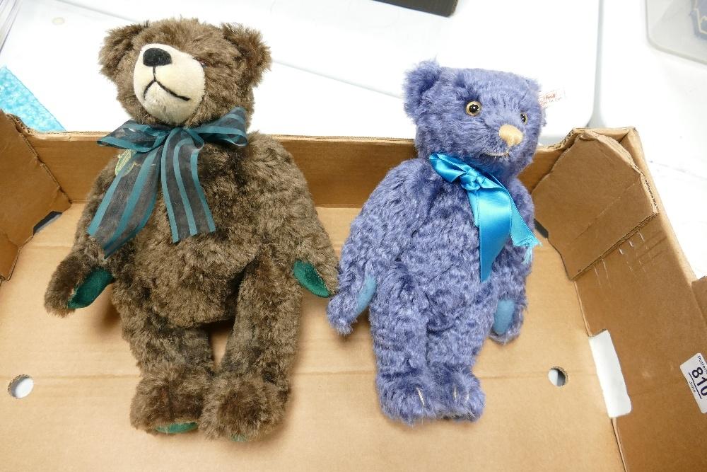 German Hermann Limited Edition Teddy Bears together with similar Steiff Bear: height of tallest