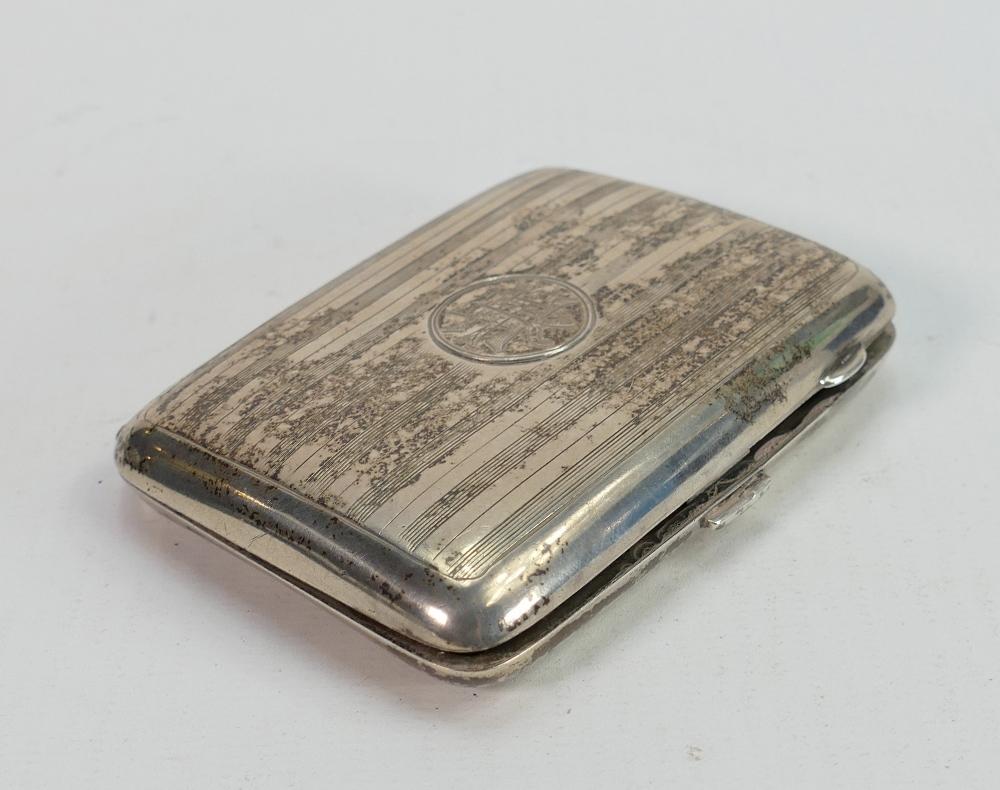 Hallmarked silver cigarette case: weight 78g.
